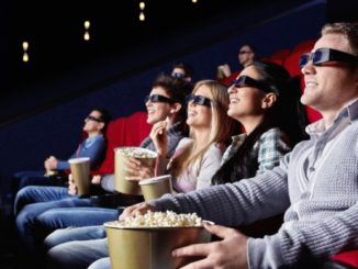 cinéma avec film en 3D